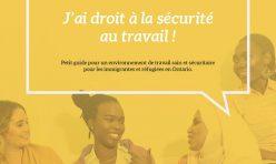 """Campagne de sensibilisation OCASI – MOFIF volet 2 : """"Immigrante en Ontario, j'ai droit à la sécurité au travail !"""""""